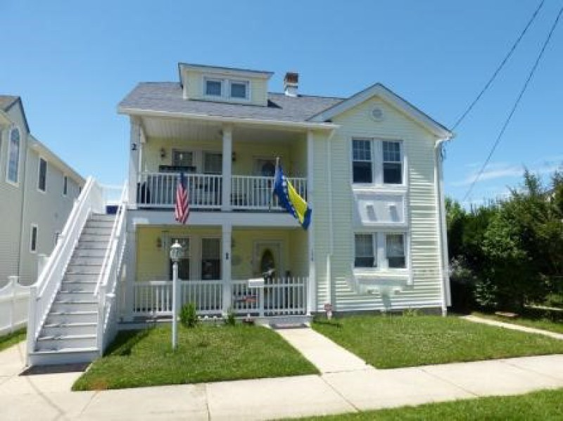 Ocean City Vacation Rentals North End (1st-6th) 136 Central Avenue Front