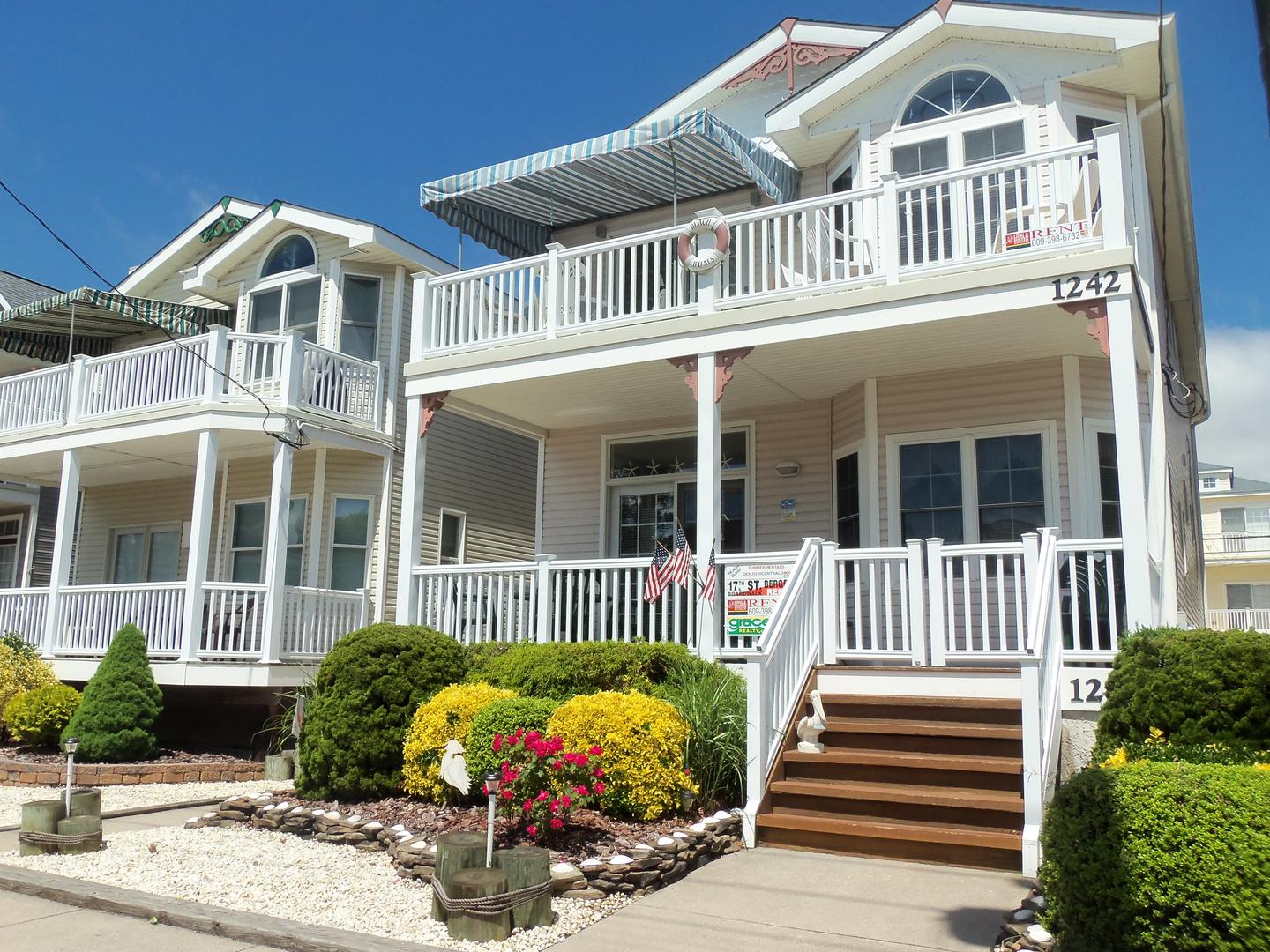 Ocean City Vacation Rentals Boardwalk (7th-14th) 1240 Central Avenue